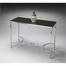 Butler Specialty Modern Expressions Console/Sofa Table in Nickel