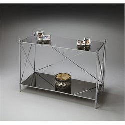 Butler Specialty Modern Expressions Console Table in Nickel