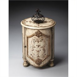Butler Specialty Artists' Originals Drum Table in Guilded Cream