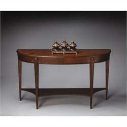Butler Specialty Masterpiece Demilune Console Table in Nutmeg