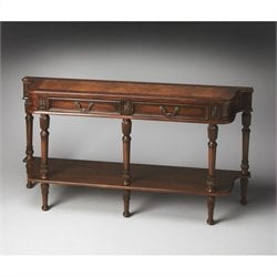 Butler Specialty Masterpiece Olive Ash Burl Console Table 2 Drawers