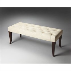 Butler Specialty Plantation Cherry Transitional Upholstered Bench