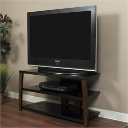 42 Inch Wide Plasma/LCD TV Stand in Walnut Finish
