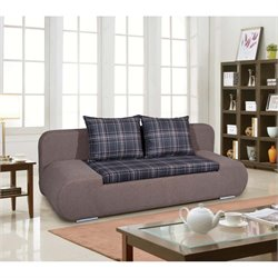 Euro Style Strit Pull Out Sofa in Gray