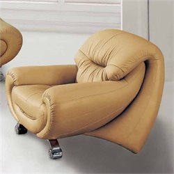 ESF Style Leather Club Chair in Beige