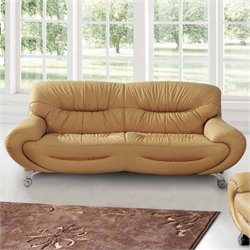 ESF Style Leather Sofa in Beige