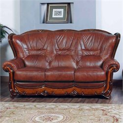 ESF Style Leather Sofa in Brown