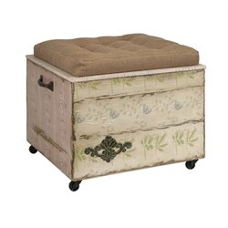 IMAX Corporation Ella Elaine Crate Storage Ottoman in Brown