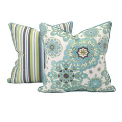 IMAX Corporation Essentials Reflective Decorative Pillow in Teal