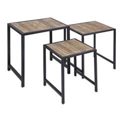 IMAX Corporation IK 3 Piece Groveport Nesting Table Set in Brown