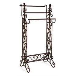 IMAX Corporation Narrow Quilt Tower Rack in Brown