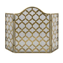 IMAX Corporation Thomas Metal Fire Screen in Gold
