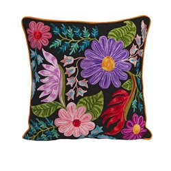 IMAX Corporation Midnight Floral Decorative Pillow