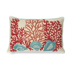 IMAX Corporation Tyden Shells and Coral Decorative Pillow