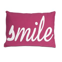IMAX Corporation Suzie Smile Decorative Pillow in Pink