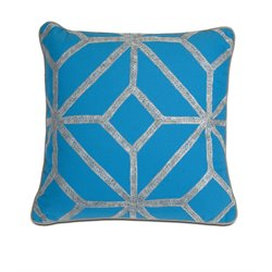 IMAX Corporation Diamond Decorative Pillow in Blue