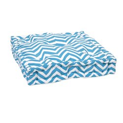 IMAX Corporation Blue Chevron Seat Cushion in White