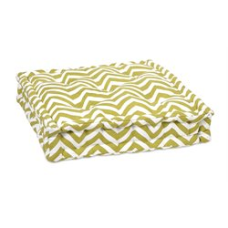 IMAX Corporation Green Chevron Seat Cushion in White