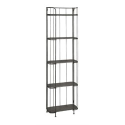 IMAX Corporation Brasov 5 Shelf Iron Etagere in Black