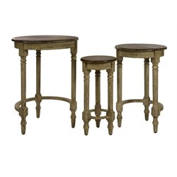 IMAX Corporation Antique 3 Piece Inspired Nesting Table Set in Brown