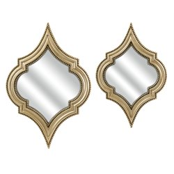 IMAX Corporation Marietta 2 Piece Accent Mirror Set in Gold
