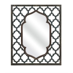 IMAX Corporation Aidan Rectangular Accent Mirror in Blue
