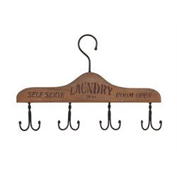 IMAX Corporation Laundry Room Wall Coat Rack in Brown