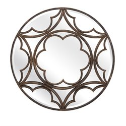 IMAX Corporation Nadine Metal Accent Mirror in Bronze