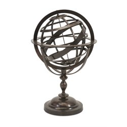 IMAX Corporation Alexander Metal Globe in Brown