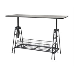 IMAX Corporation Henry Adjustable Metal Work Console Table in Gray