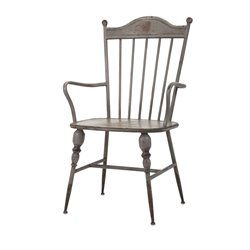 IMAX Corporation Chatham Metal Arm Chair in Gray