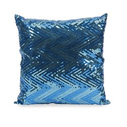 IMAX Corporation Estradin Sequin Chevron Decorative Pillow in Blue