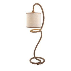IMAX Corporation Binnacle Rope Floor Lamp in Beige