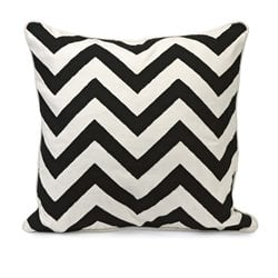IMAX Corporation Chevron Embroidered Decorative Pillow in Black