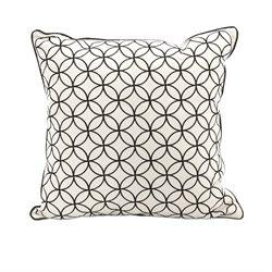 IMAX Corporation Essentials Embroidered Decorative Pillow in Black