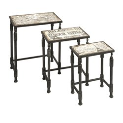 IMAX Corporation Knoxlin 3 Piece Nesting Table Set in Brown