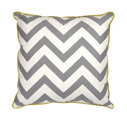 IMAX Corporation Essentials Mellow Yellow Decorative Pillow in Gray