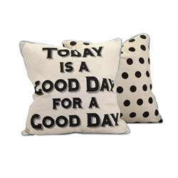 IMAX Corporation Good Day Decorative Pillow in Beige