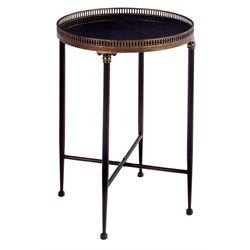 IMAX Corporation Round Accent Table in Black