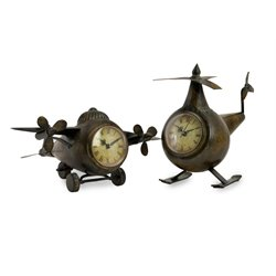 IMAX Corporation Lindbergh Aviation Clocks (Set of 2)