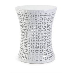 IMAX Corporation Huff Cutwork Garden Stool in White