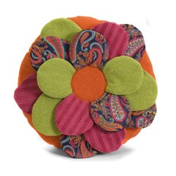IMAX Corporation Estelle Multi-Fabric Flower Pillow