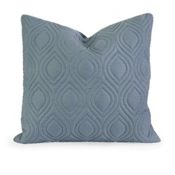 IMAX Corporation IK Kavita Linen Quilted Decorative Pillow in Blue