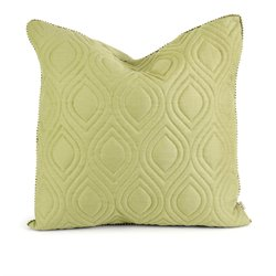 IMAX Corporation IK Kavita Linen Quilted Decorative Pillow in Green