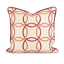 IK Catina Linen Decorative Pillow in Beige