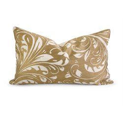IMAX Corporation IK Rozene Embroidered Decorative Pillow in Gold