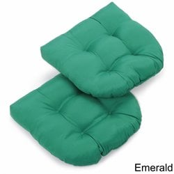 Blazing Needles U Shaped Chair Cushion (Set of 2)