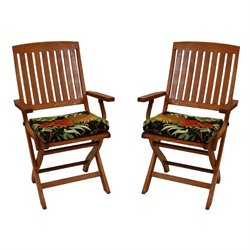 Blazing Needles Patio Folding Chair Cushion (Set ot 2)