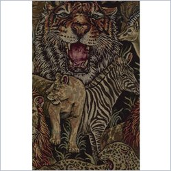 Blazing Needles Tapestry Full Size Futon Cover in Safari