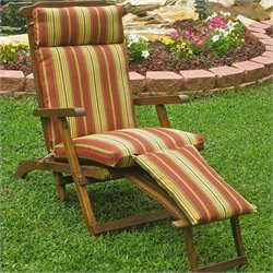 Blazing Needles Patio Steam Lounger Cushion in Print